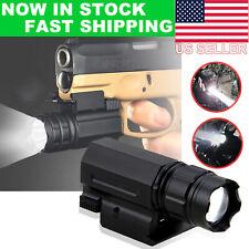 Tactical Pistol Gun Picatinn Flashlight Handgun Torch Light For Glock 17 19 18C