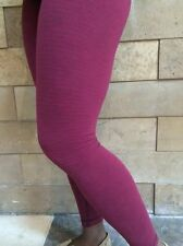 NWT Lululemon Size 4 Wunder Under Pant Luon Pique Rust Berry Bumble Berry