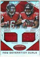 2015 Panini Certified Dual Jersey Mirror Red /249 Justin Hardy/Tevin Coleman