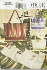 OOP Vogue Sewing Pattern Misses Accessories TOTES ORGANIZER Purse Handbags 8376