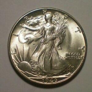 1946 S  WALKING LIBERTY HALF DOLLAR BU