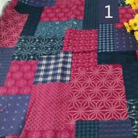 Ethnic Linen Cotton Fabric Clothes Upholstery Curtain Crafts Boho Splice Vintage