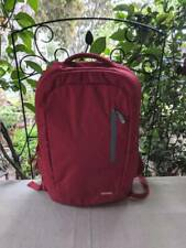 "Incase Pompien Red Compact Backpack 15"" Laptop Faux Fur"
