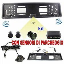 Kit Auto Porta Targa Con Sensore di Parcheggio e Telecamera Portatarga Macchina