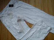 NEW NEXT WHITE LINEN LADIES WOMENS TROUSERS SIZE 8 REGULAR