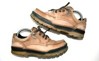 Ecco Track Mens Goretex Walking Hiking Shoes Mens Size 41 Tanned Brown Leather