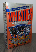 Vintage Wheaties Cereal w/NFL Super Bowl 30th 18 Oz Full Box Factory Sealed