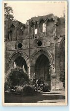 *DryBurgh Abbey North Side of Choir Tomb Scotland Vintage Postcard B64