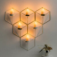 3D Geometric Candlestick Metal Wall Candle Holder Sconce  Nordic Style t