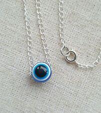 Protezione malocchio collana. Blu Perlina Ciondolo. semplice talismano. Moda.