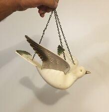 Vtg Plastic Hanging Figural Dove Outdoor Bird Feeder