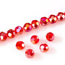 DIY 100Pc 4mm Round Crystal Glass Beads red Spacer Bead For Bracelet Jewelry