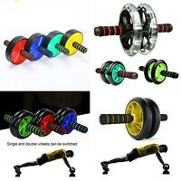 KQ_ Abdominal Exercise Wheel Roller Workout Gym Fitness Musle Training Equipment