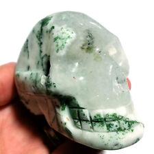 Tree Agate 71mm Crystal Skull Stone Specimen