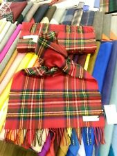 100% Lambswool Wide Scarf   Lochcarron   Made in Scotland   Royal Stewart Stole