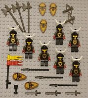 LEGO Minifigures Lot 7 Bull Knights Army Castle Guys Swords Lego Minifig People