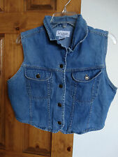 Tangibles women's sleeveless button-down denim top size L