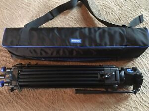 Professional Benro KH25N Video Tripod with Carrying Bag Very Nice Used Con
