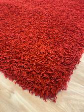 Hochflor Shaggy Teppich Funky  bordeaux rot 120 x 170 cm abverkauf Neuware