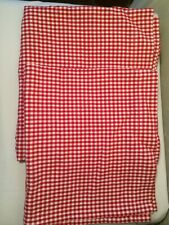 "Pottery Barn Kids Red/White Gingham Valance 42"" curtain"