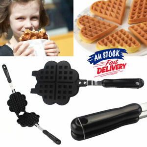 Maker Gas Iron Mould Waffle Baking Pan Single head Mold Press Plate Non-stick