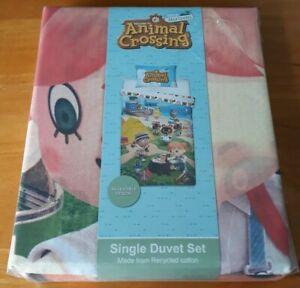 Animal Crossing Single Duvet Cover Reversible Bedding Set