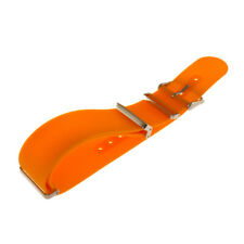 Orange Silicone Military Watch Band - 22mm
