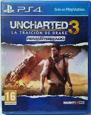 Uncharted 3. Remasterizado. Ps4. Fisico. Pal España