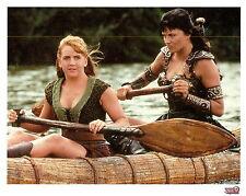 "Xena and Gabrielle paddling canoe - 8x10 photo litho Season 2 ""The Price"""