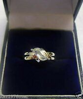 9 Ct White Gold Solitaire Ring Cubic Zirconia (L, P) BRAND NEW - RRP 89.99
