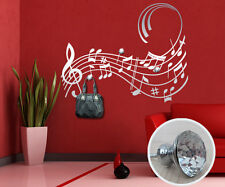 00318 Wall Sticker Appendiabiti Gioiello Pomelli Swarovski Note Musica 120x94cm