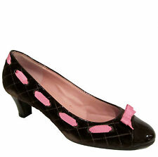 Marc by Marc Jacobs quilted velvet heels sz 9.5/39.5 brown & pink shoes NEW $365