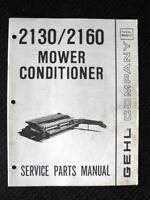 ORIGINAL GEHL 2130 2160 MOWER CONDITIONER SERVICE PARTS MANUAL VERY GOOD SHAPE