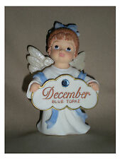 BIRTHSTONE ANGEL FIGURINE - DECEMBER - BLUE TOPAZ  - JEANE'S THINGS
