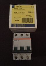 New Square D MG24470 Multi 9 C60 25A 3P 480Y/277V Mini Supplementary Protector