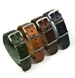 Wristwatch strap Pueblo leather, Handmade band 18 20 22 24mm, length 250mm 280mm