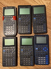 Lot of 6 Texas Instruments Ti-82/84 Graphing Calculator for Parts/Repair As Is