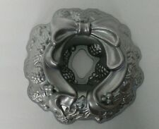 NORDIC WARE HOLIDAY WREATH PAN bundt cake pan with pinecones ribbon bows holly S