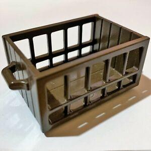 Playmobil Brown Wood Box Storage CRATE Farm Market Train Western Pirate Ship Vtg