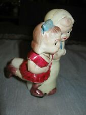 Rare Vintage Occupied Japan Ice Skating Couple Toy Wind up Works
