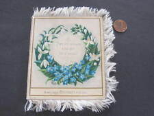 Ornate Christmas Greeting Card silk edging