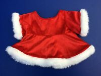 Build a Bear Clothing - Red Velvet Christmas Dress With Fur Trim and Stole - EUC