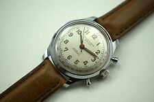 "JEAN LOUIS ROEHRICH ""STOP"" FLYBACK CHRONOGRAPH,BOREL & FILS MOVEMENT.MINT 1950'S"
