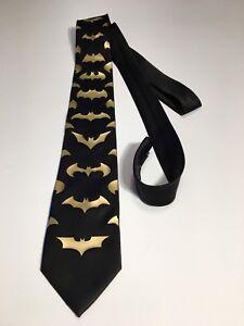 Bats Necktie, Incredible Tie, Gold Logos, New, Cool and Unique