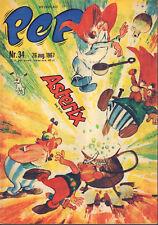 PEP 1967  nr. 34 - ASTERIX (COVER) / WK WIELRENNEN NEDERLAND / COMICS