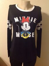 Disney MINNIE MOUSE T SHIRT Long Sleeves Junior Size M