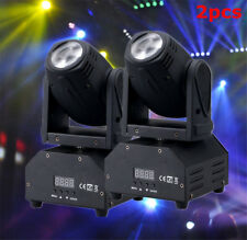 2PC 50W RGBW LED Moving Head Stage Lighting DMX-512 DJ Disco XMAS Party Light ES