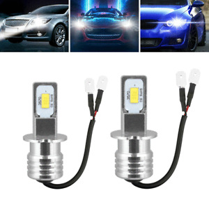 2x H3 Super White CREE LED Headlight Kit 100W 10000LM Fog Driving DRL Bulb 6000K