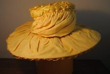 New listing Vintage ladies women (s) yellow hat straw ribbon