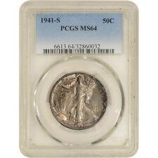 1941-S US Walking Liberty Silver Half Dollar 50C - PCGS MS64